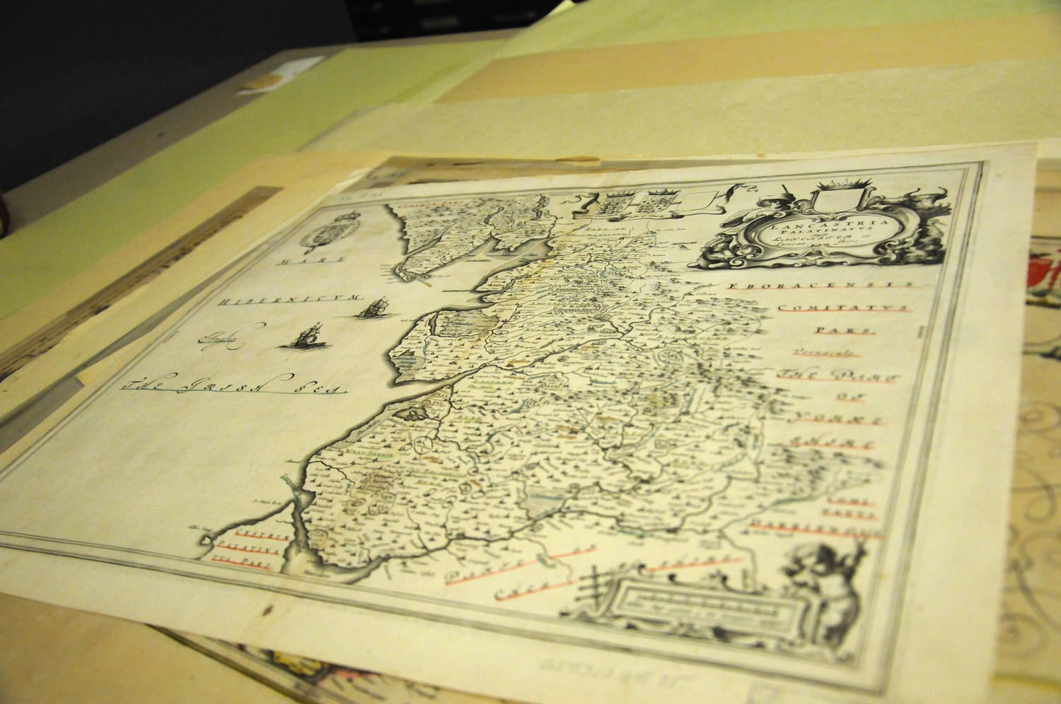 A map of Britain housed in the Harvard Map Collection in the Pusey Library.