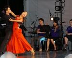 Dan Fu '18 and Serena Wang '16 at Arts First Festival
