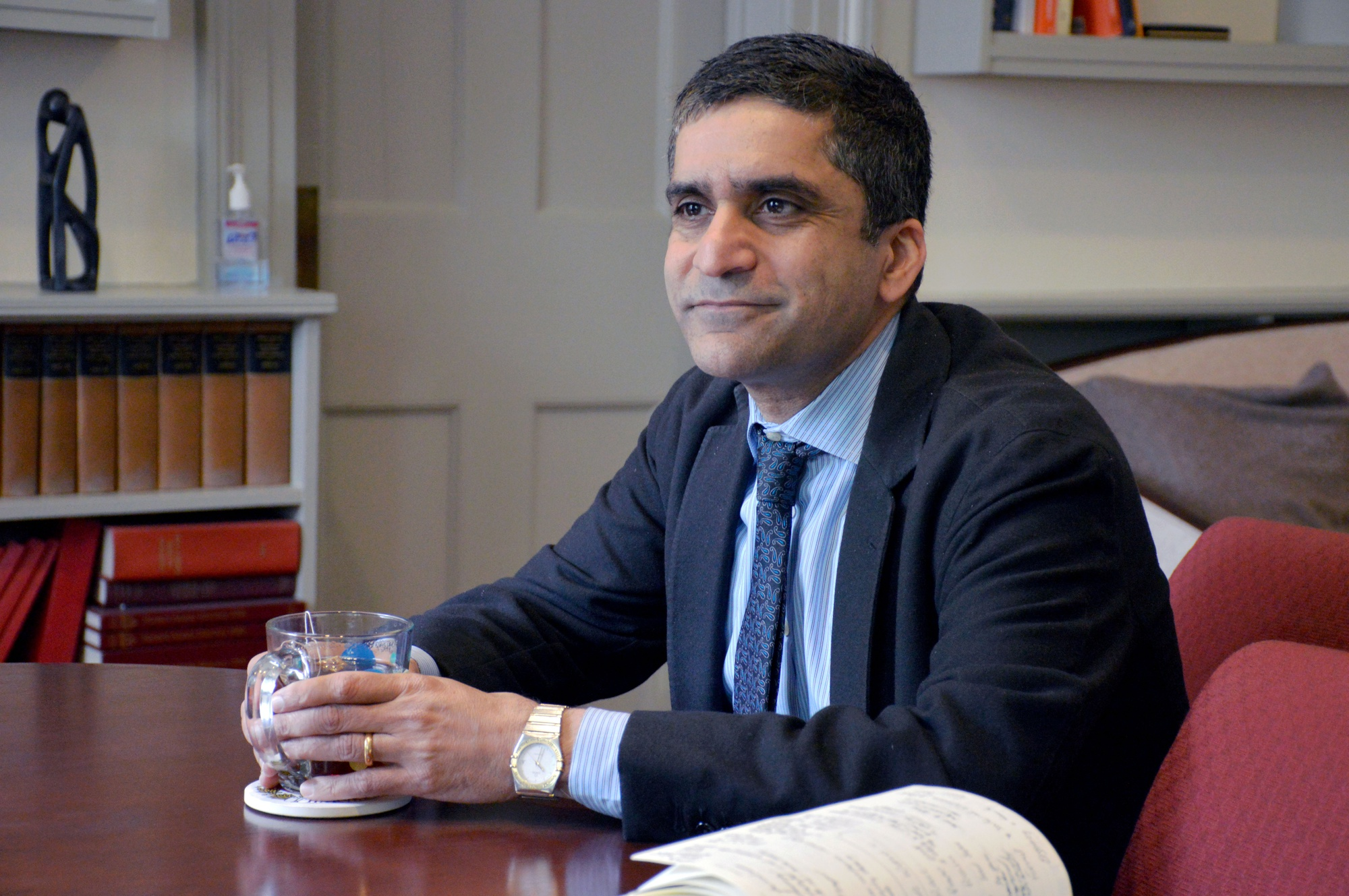 Dean of the College Rakesh Khurana in his office Tuesday