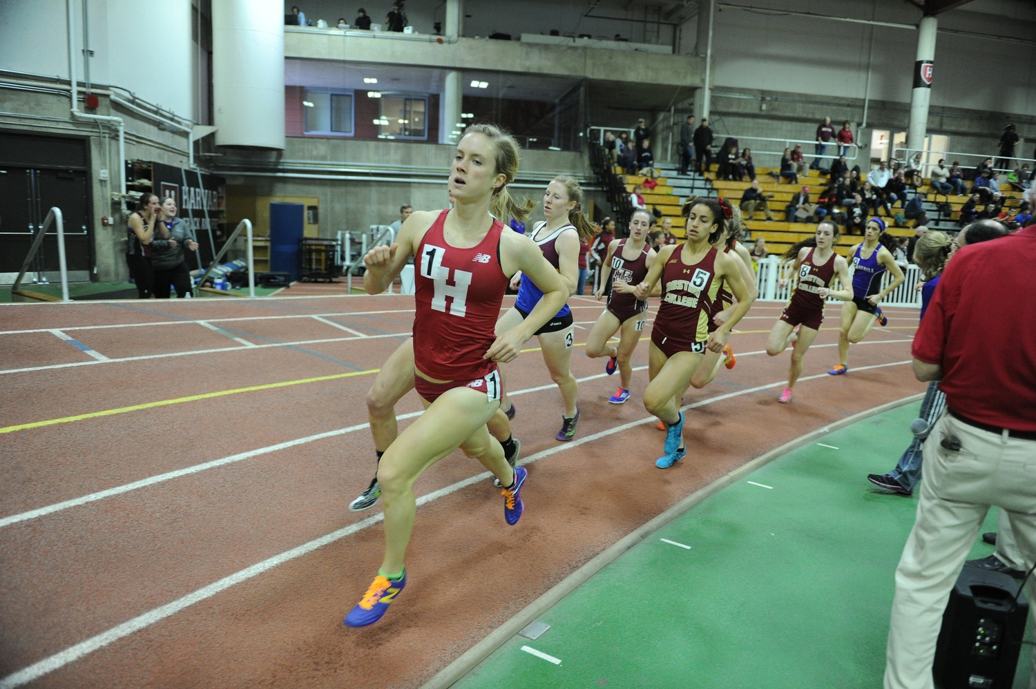 Paige V. Kouba '16, a former captain of the women's cross country team and current assistant coach.