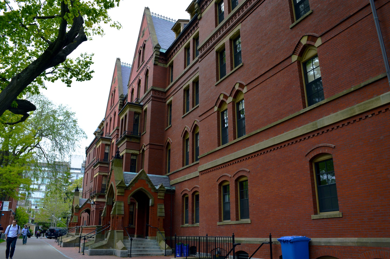 Matthews Hall, a freshman dorm at the heart of Harvard Yard.