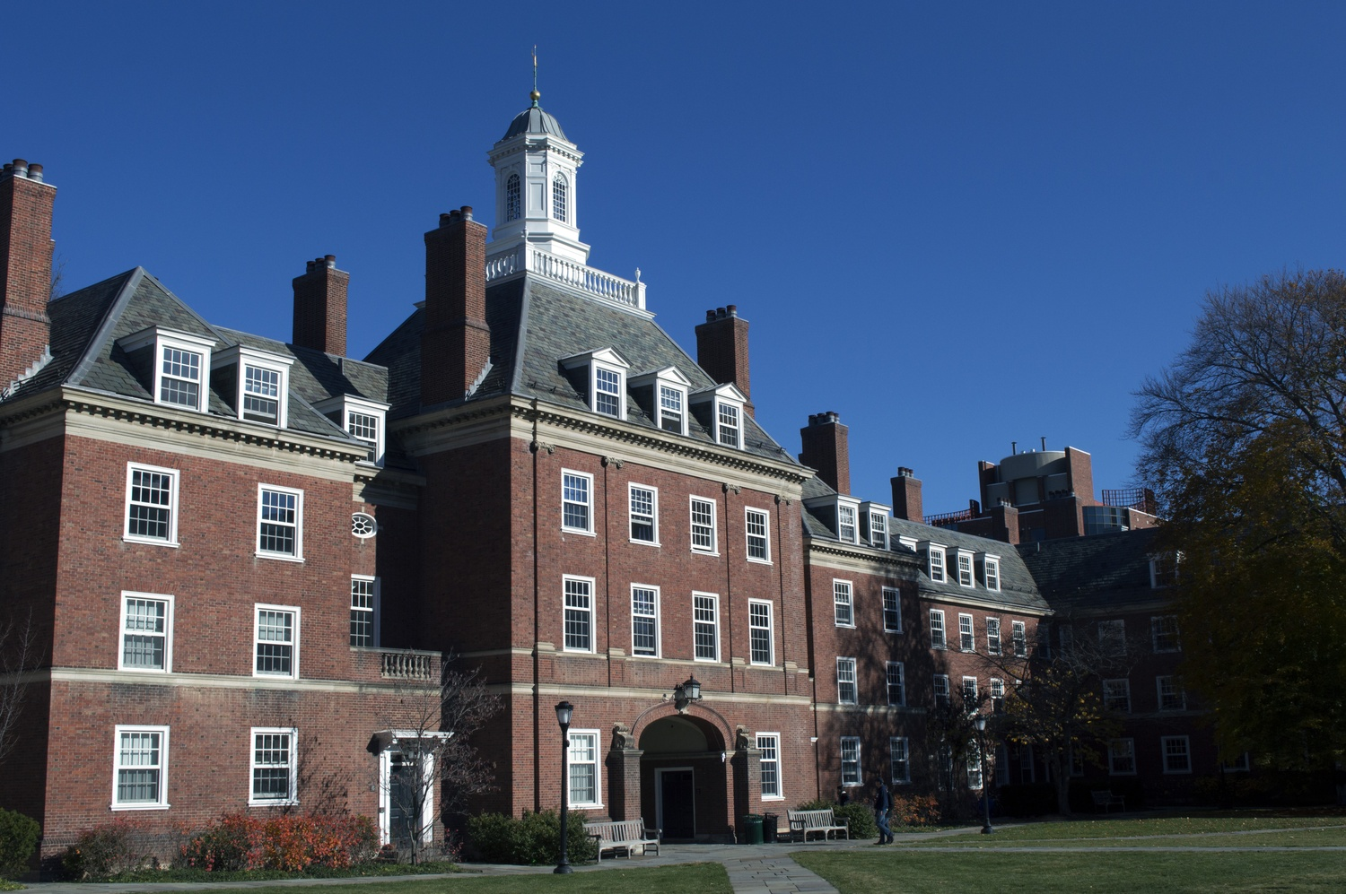 Silliman College, the largest residential college at Yale University.  At Yale, most freshmen live in freshman housing on Old Campus, clustered according to their assignments.  Freshmen assigned to Silliman and nearby Timothy Dwight instead live in their College among upperclassmen.