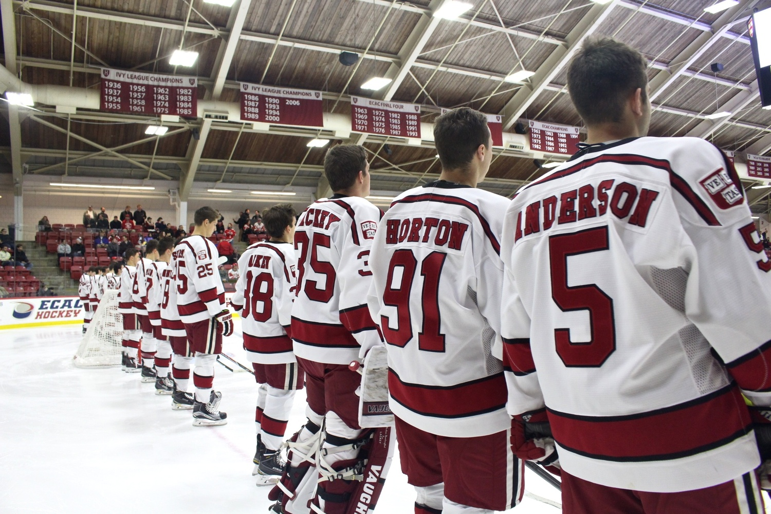 Over the course of the last few years, the team has come together on and off the ice to bring a stronger core of leadership to Harvard Hockey and establish a connection with the Harvard community.