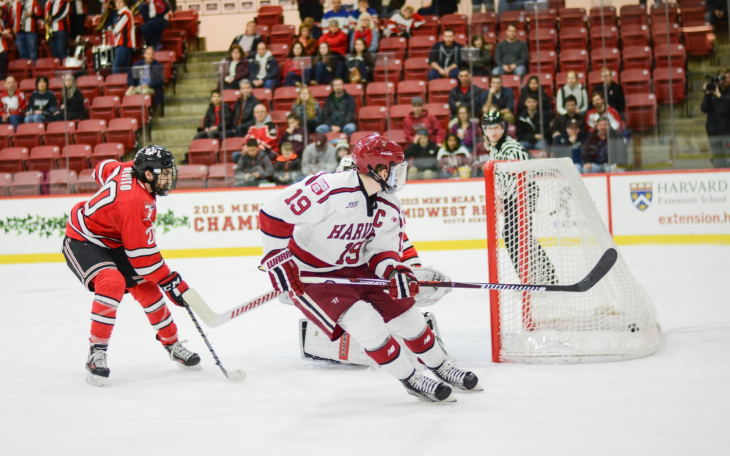 March 12: Vesey's final career goal at the Bright Center pushed the Crimson's lead to 6-2 over RPI in Game 2 of the ECAC Quarterfinals, helping Harvard punch its ticket to Lake Placid.