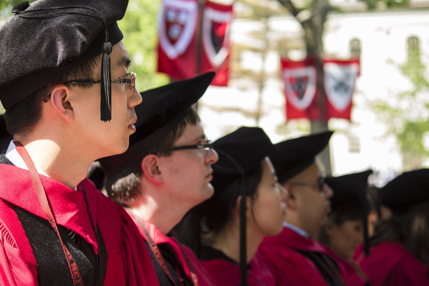 Students in the Graduate School of Arts and Sciences at Commencement in 2016.
