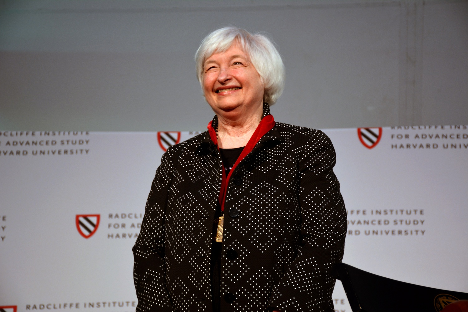 Janet Yellen, the former chair of the Federal Reserve Bank, received the Radcliffe Medal in 2016. Now she's speaking out in favor of Harvard's race-conscious admissions policies.