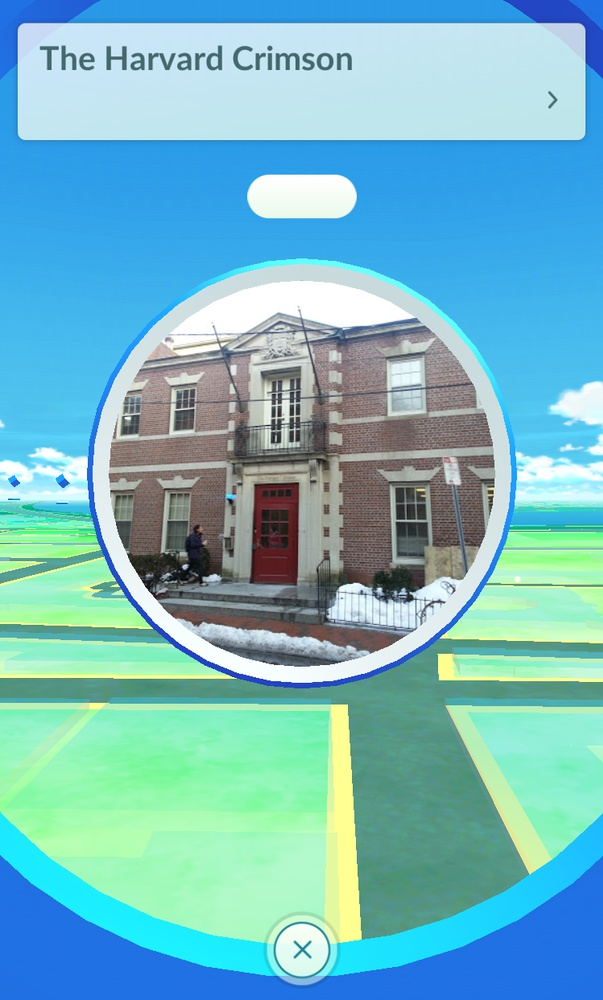 Pokéstop at The Harvard Crimson