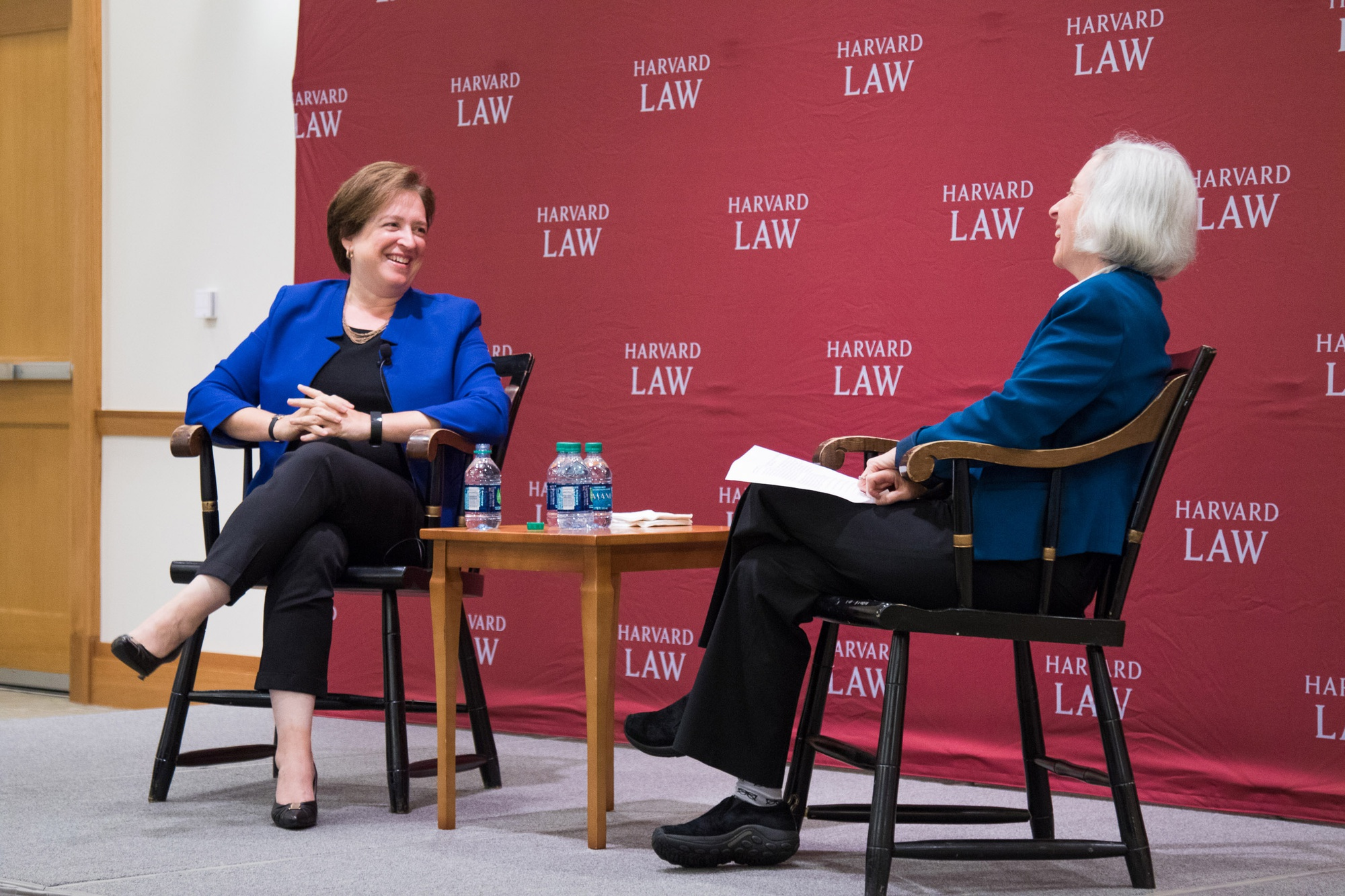 Justice of the Supreme Court Elena Kagan in conversation with Harvard Law School Dean Martha L. Minow Thursday.