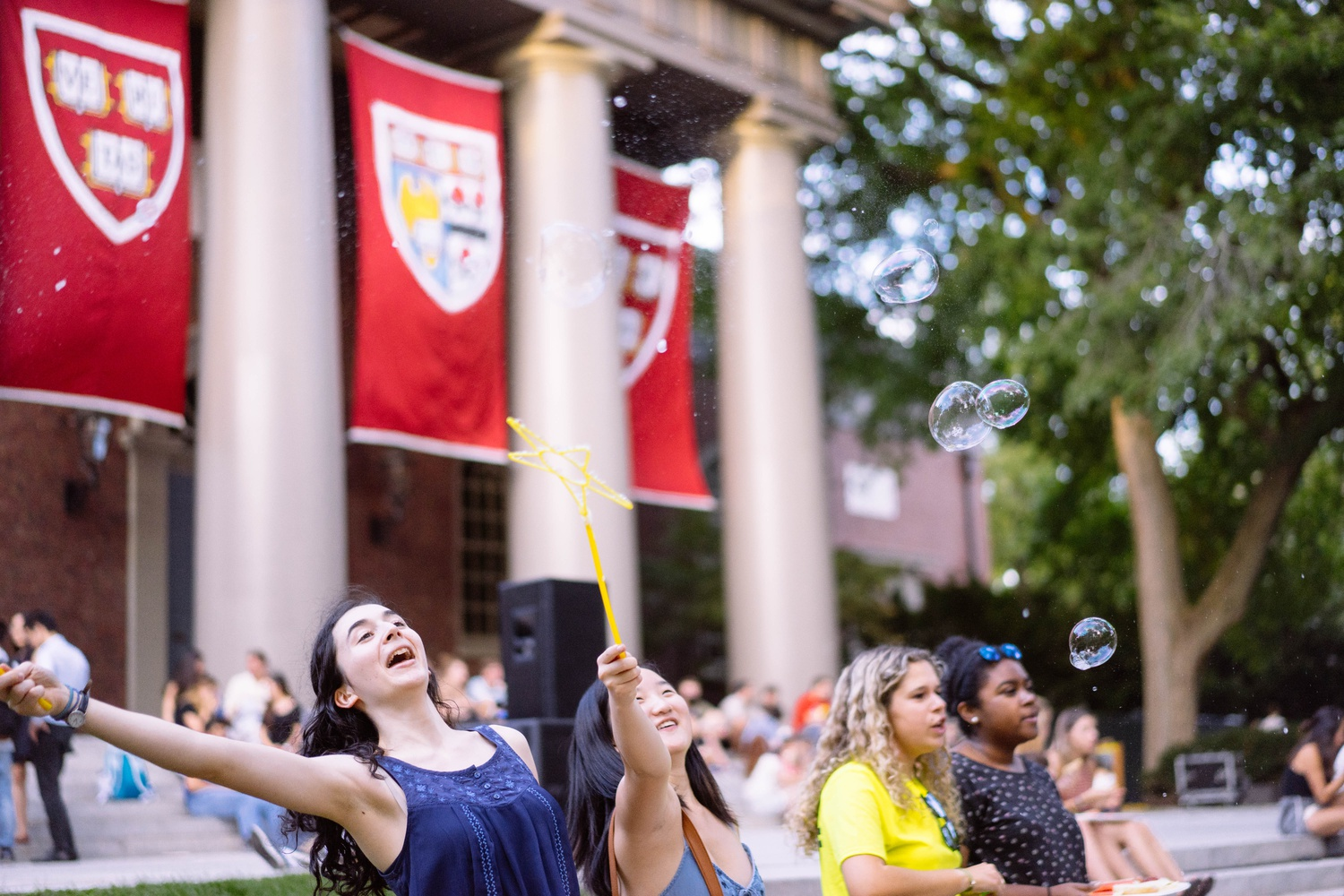 The College Events Board recreates memories of summer at the annual Camp Harvard last Friday with grilled foods, games, and music.