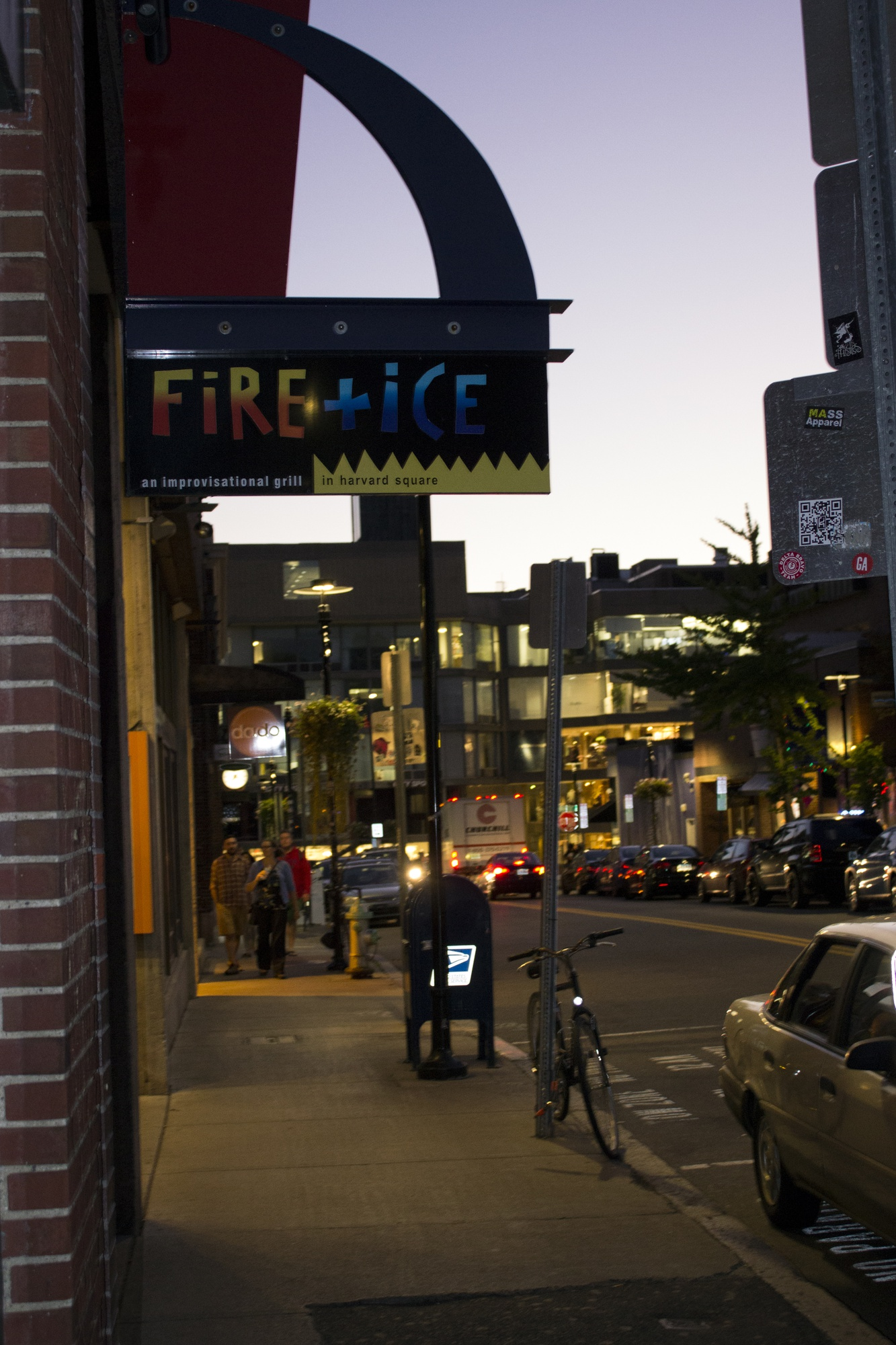 The well-known Harvard Square restaurant FiRE+iCE, closed permanently on Sunday after two decades in Cambridge.