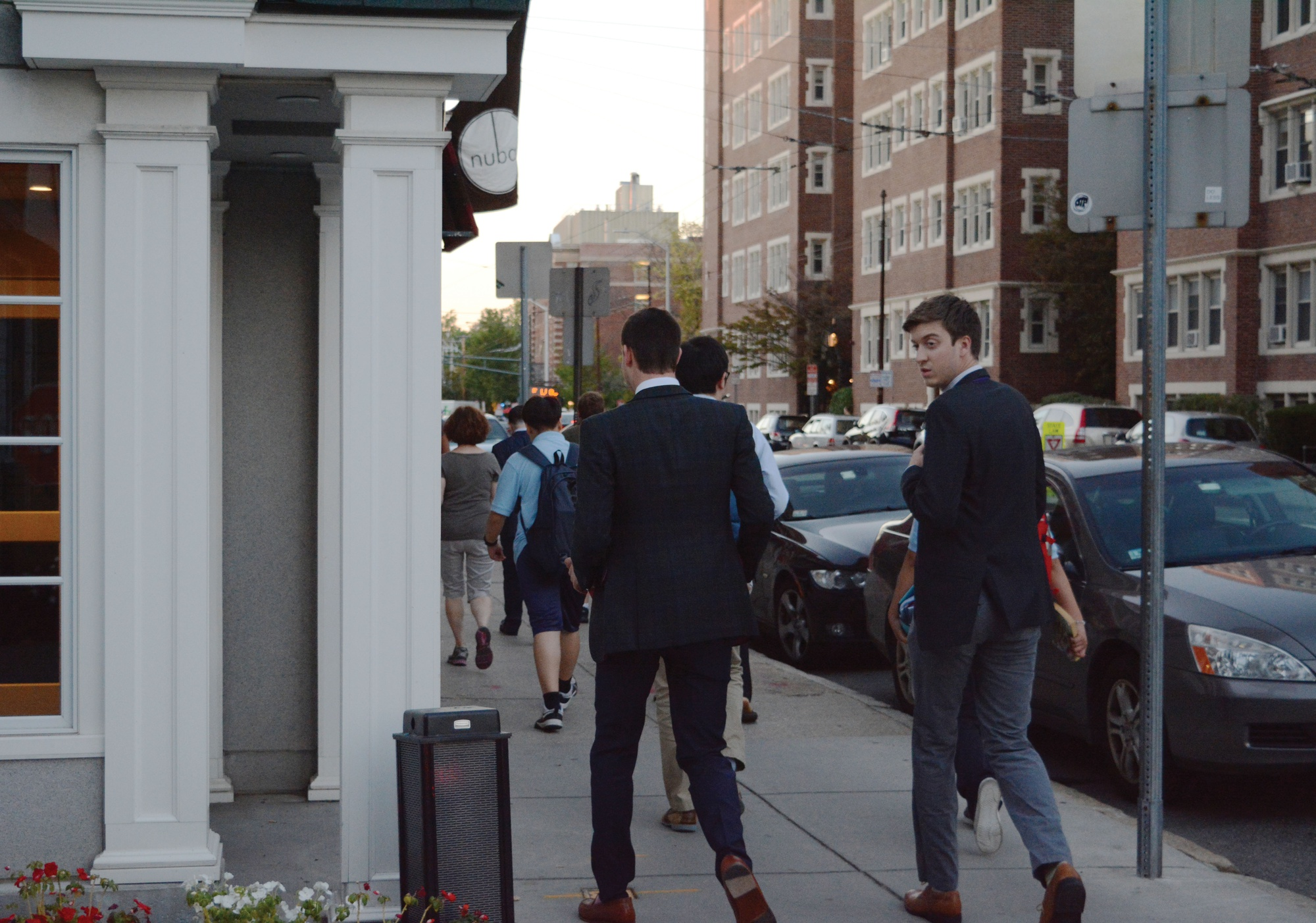 Students walk into the Sheraton Commander before the first punch event for the A.D. Club on Tuesday night.