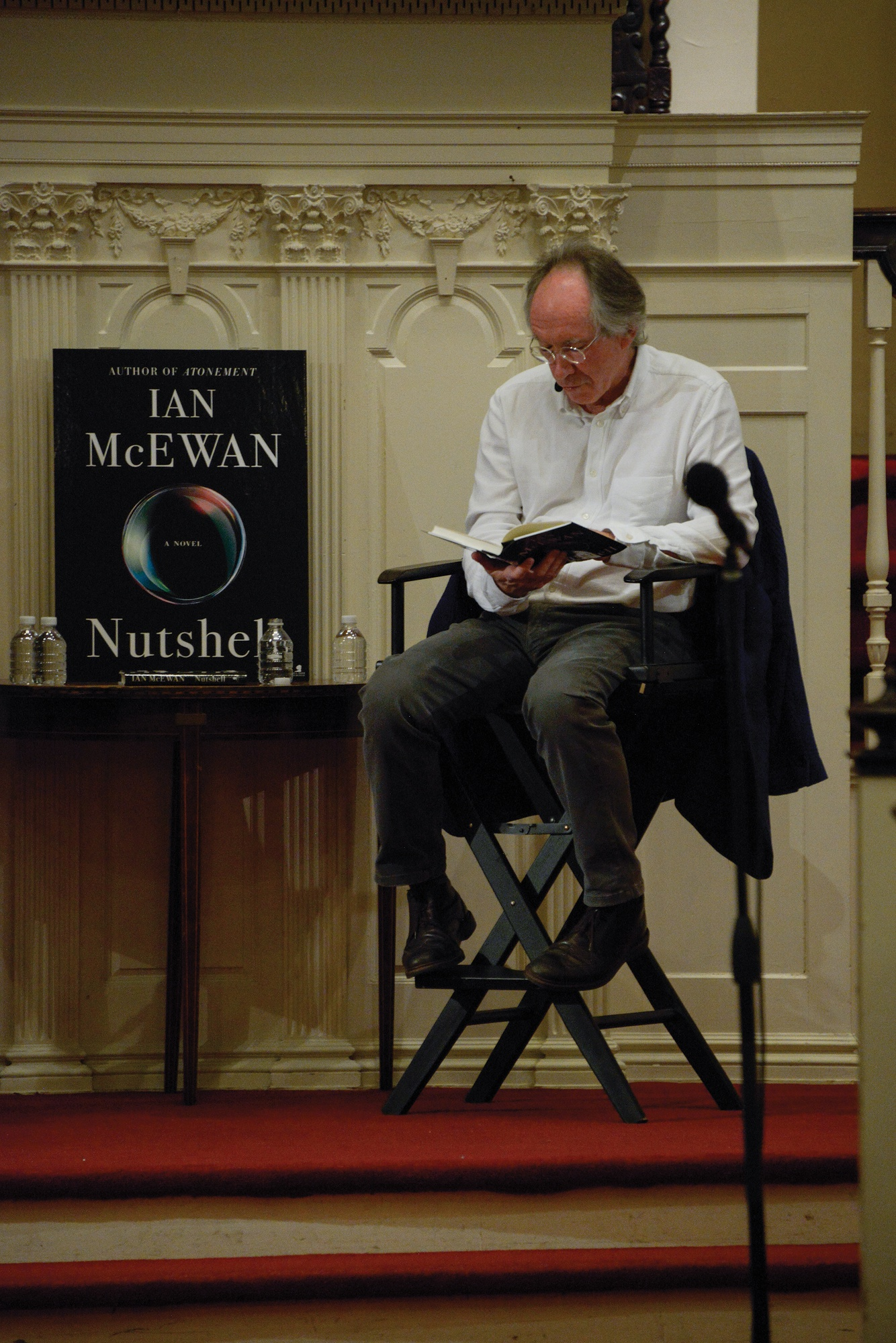 Ian McEwan, author of Atonement, reads aloud a chapter of his newest book, Nutshell.