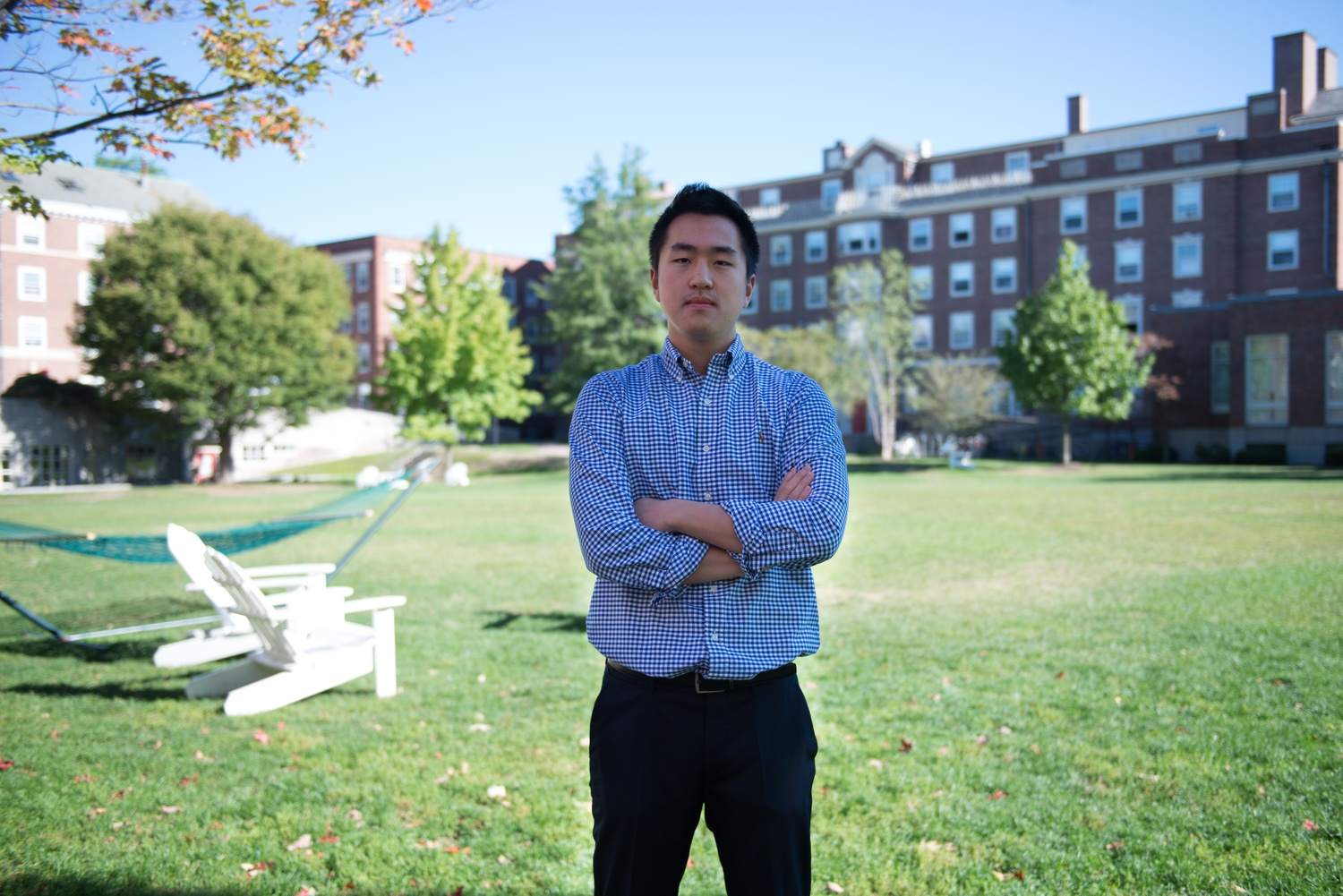 Jin K. Park '18 learned English when he moved to the United States when he was 7 years old.