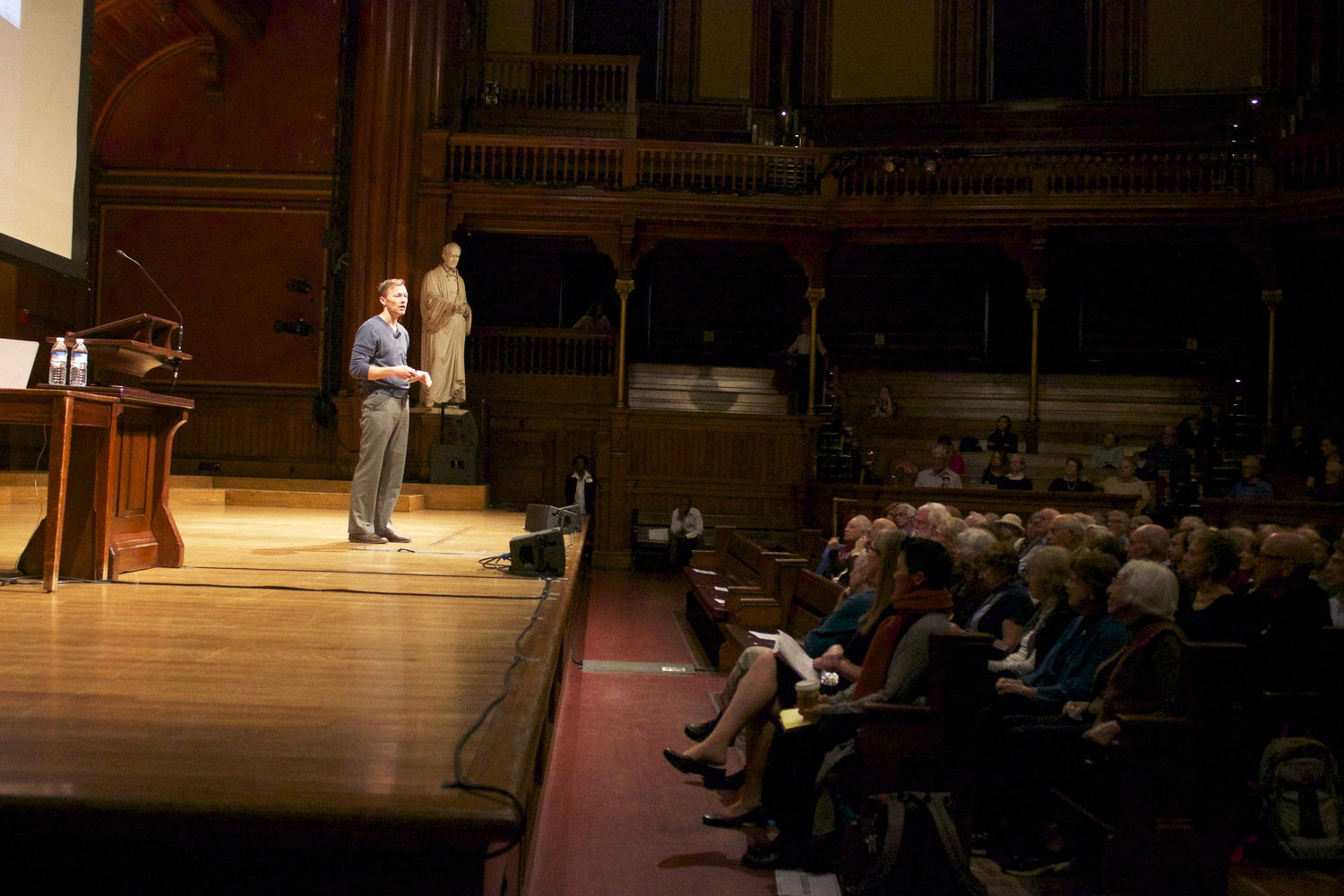 Matthew Desmond, author of Evicted and a sociology professor at Harvard, speaks about his work at the Harvard Institute for Learning in Retirement convocation. HILR is a community of retirees who attend and teach classes, and is a part of Harvard's Division of Continuing Education.
