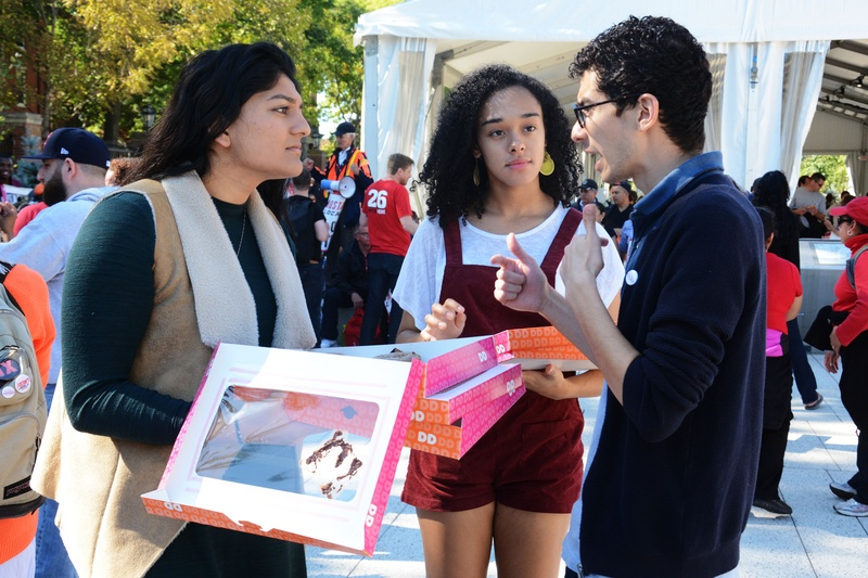 UC Hands out Donuts to HUDS Strikers
