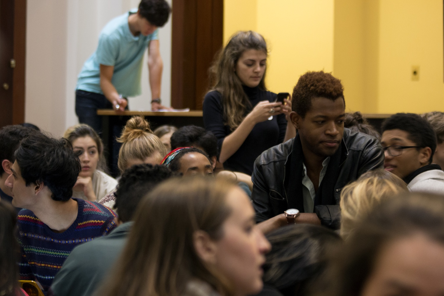 Jonathan S. Roberts '17 led the sit-in at 124 Mount Auburn Street.