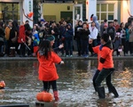 Pumpkin Float at Boston Common's Frog Pond