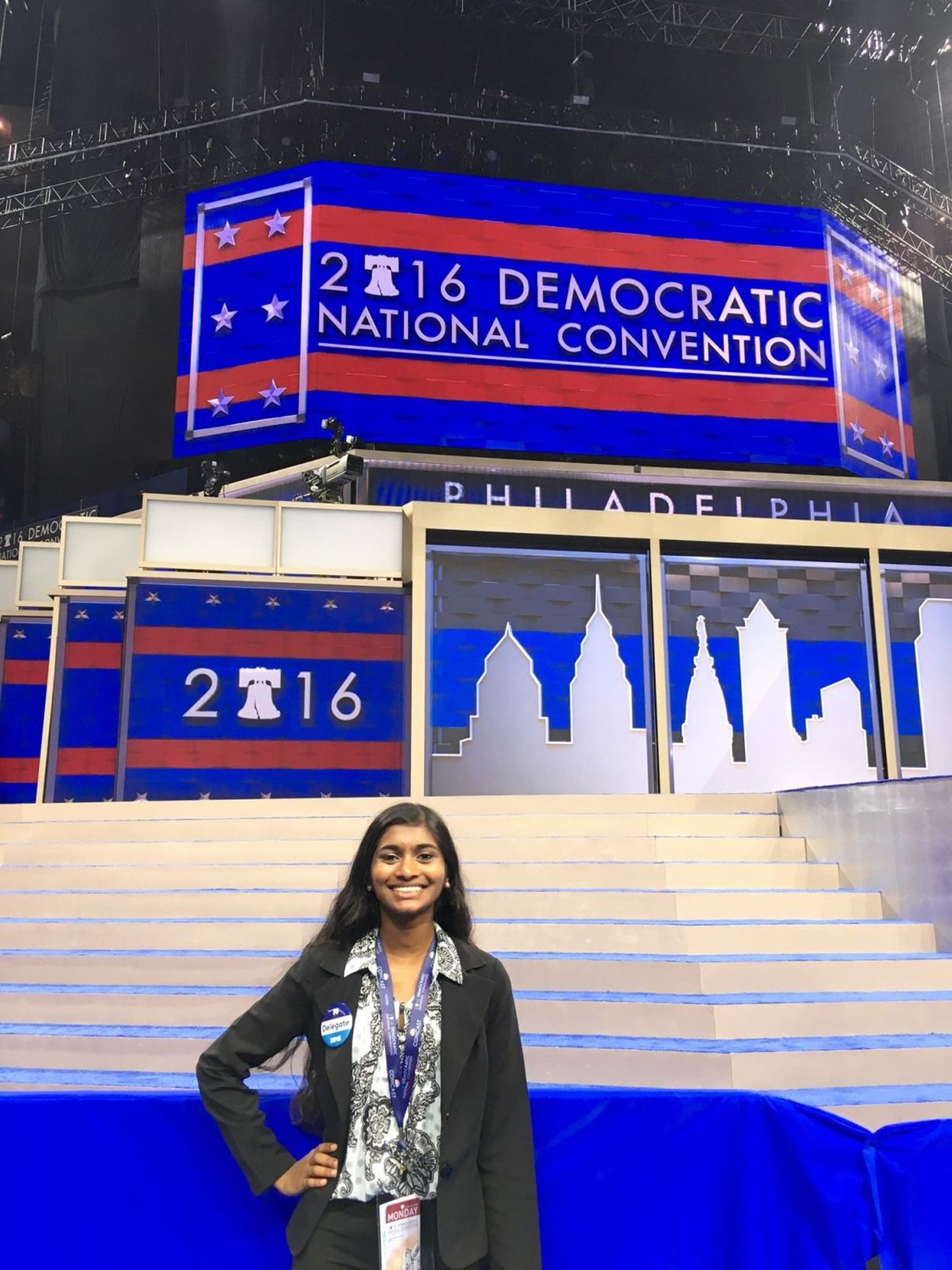 This summer, Sruthi Palaniappan '19 was the local precinct captain for Hillary's Iowa caucus campaign.