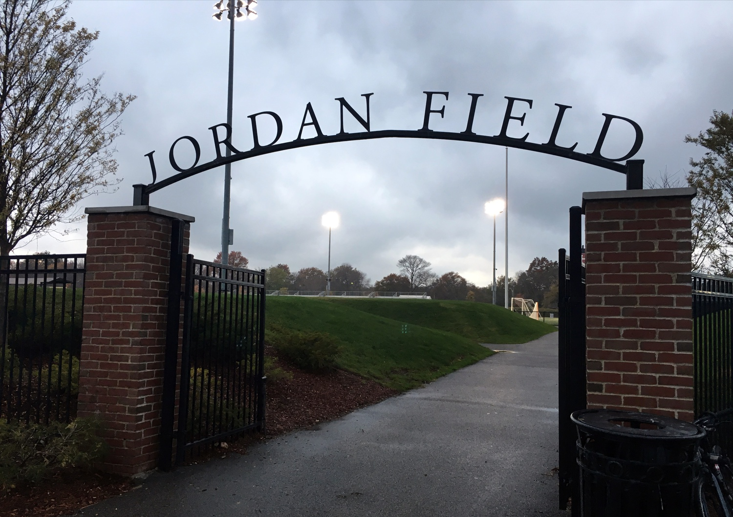 Jordan Field, the home of Harvard's soccer teams. Harvard Director of Athletics Erin McDermott said in an interview Wednesday she is hopeful sports teams will be able to safely compete this fall.