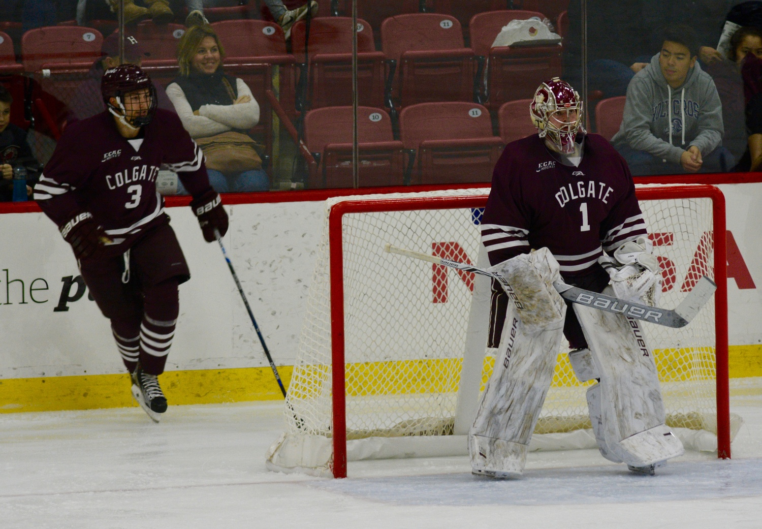Senior goaltender Charlie Finn stopped 41 of the 42 shots he saw Friday night.