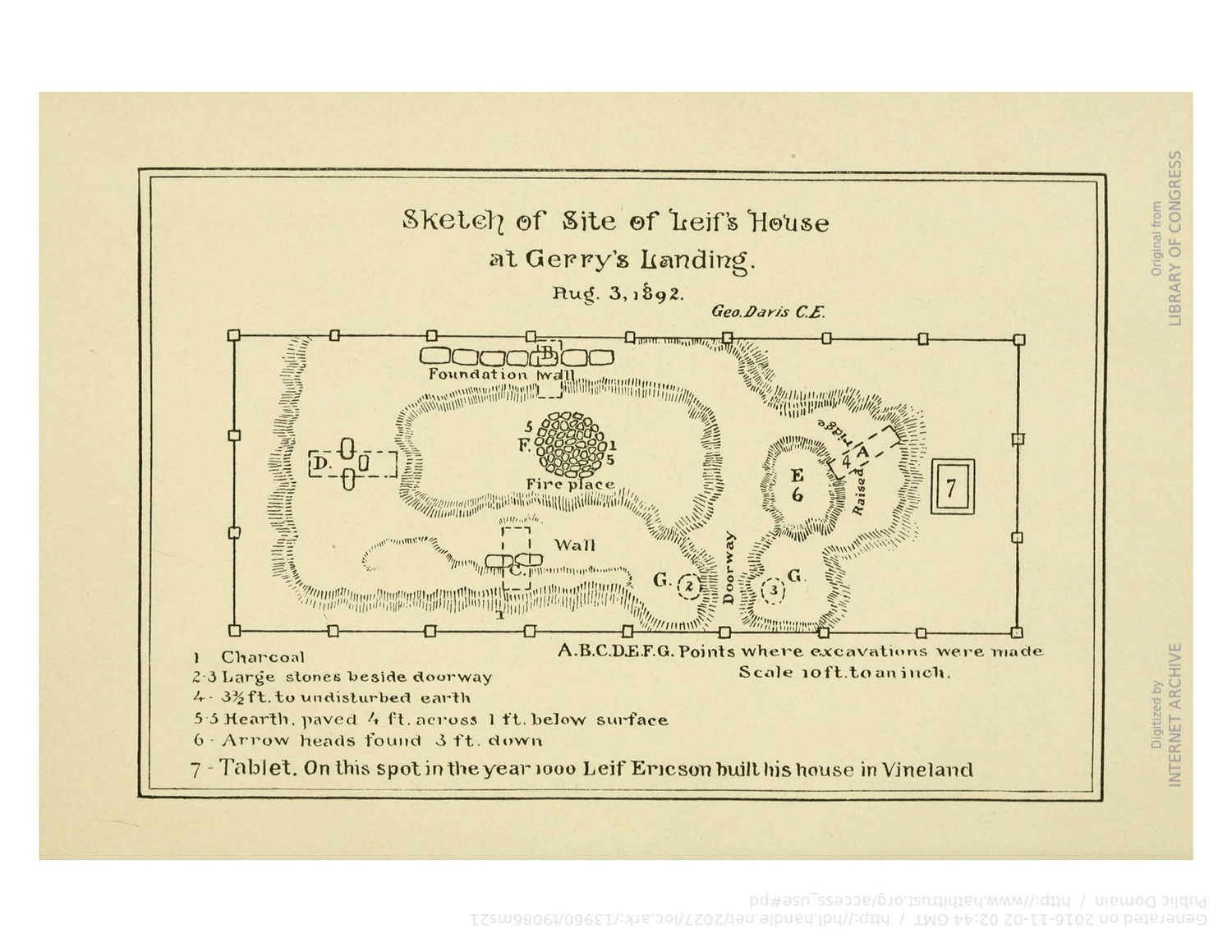 Plan of Leif Erikson's House