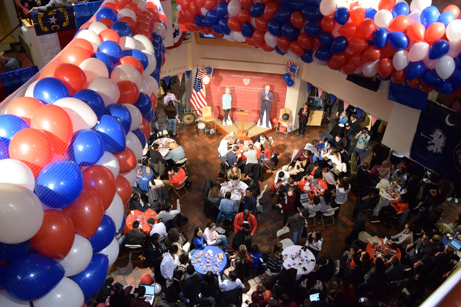The Institute of Politics on Election night in November.
