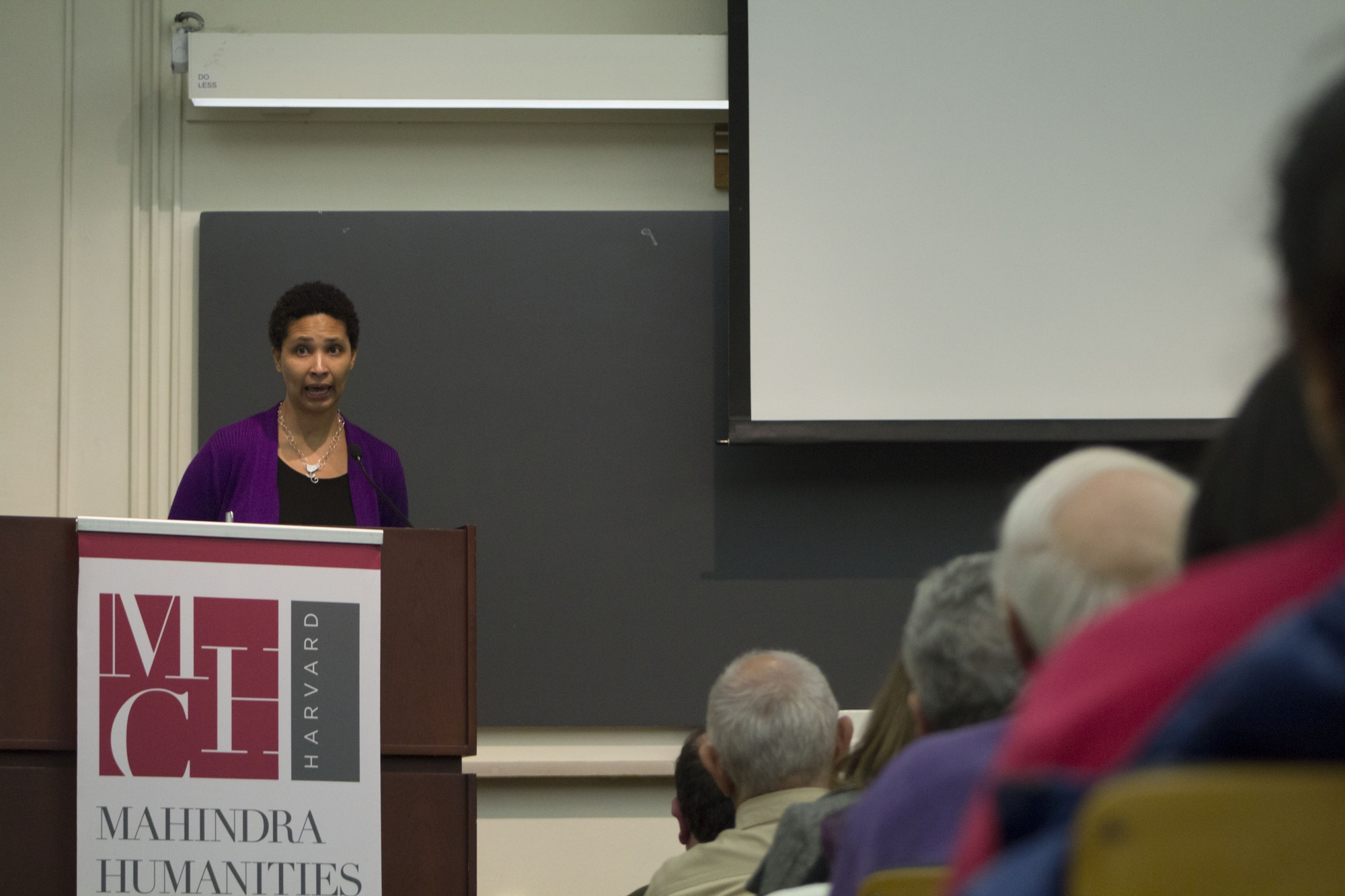 Safra Center for Ethics Director Danielle S. Allen read from her op-ed published in the Washington Post today in reflection on the recent presidential election. She spoke at a Mahindra Center event where fellow scholars Jill Lepore and David I. Laibson '88 also shared their takes on Trump's election.
