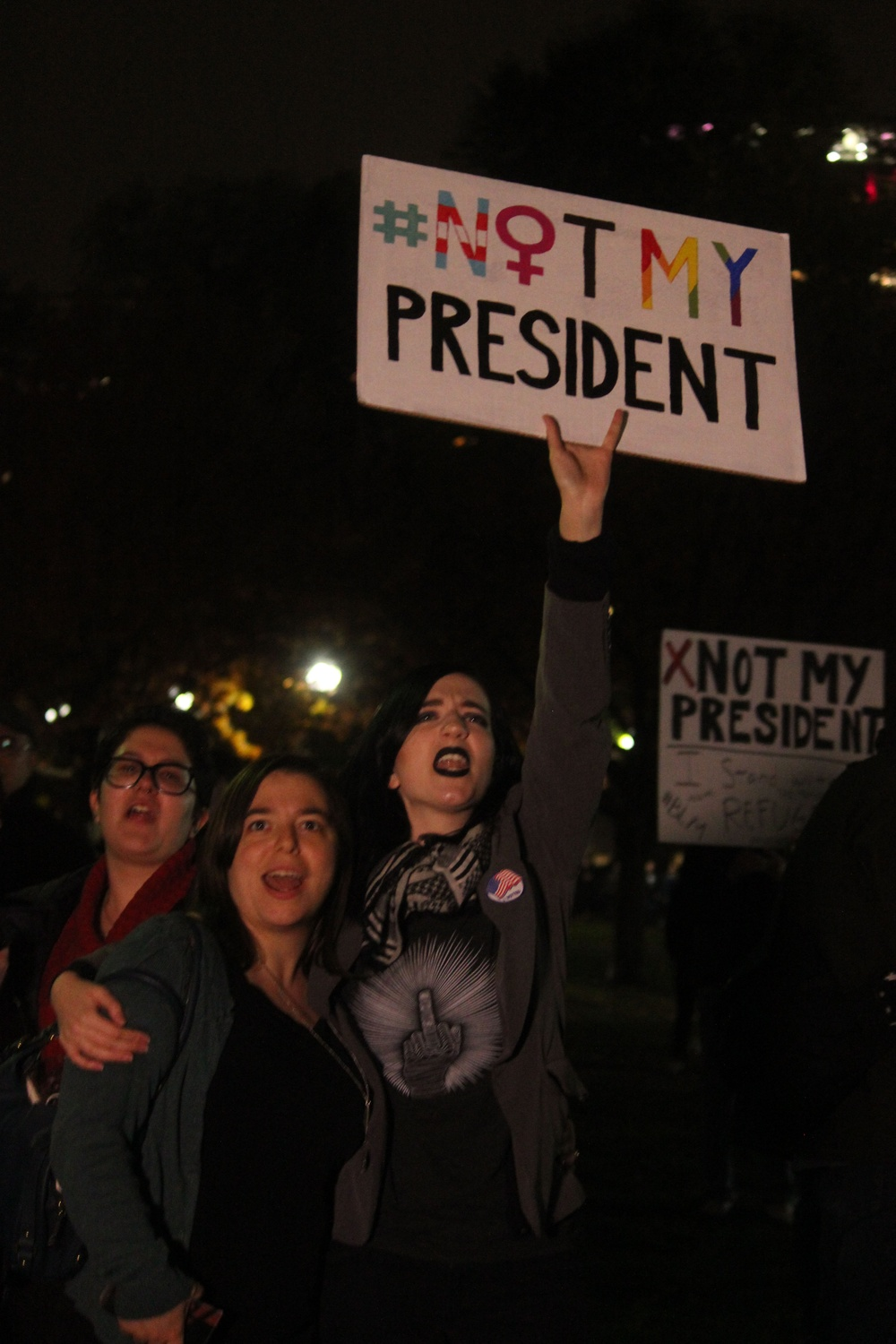 Thousands gathered in Boston Common last November to protest Trump's election.