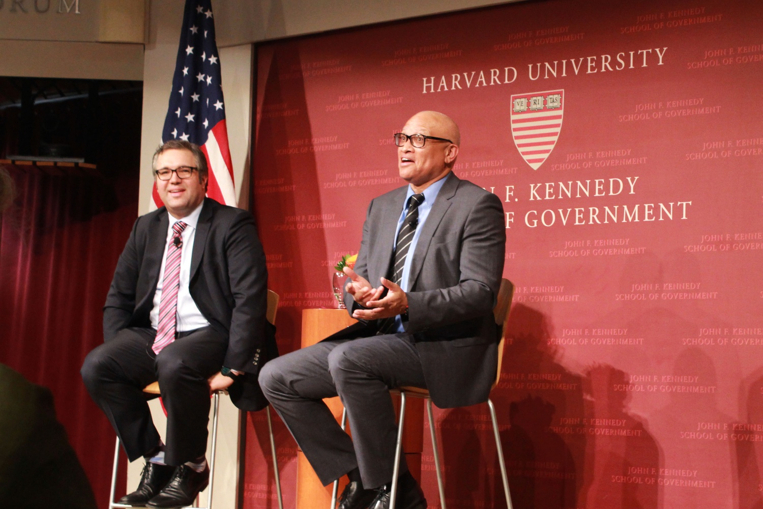 Comedian Larry Wilmore reflects on the presidential election, media and the future of the country. Wilmore delivered this year's annual Theodore H. White Lecture on Press and Politics at the Institute of Politics on Tuesday.