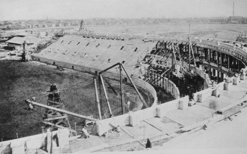 Construction of the Harvard Stadium