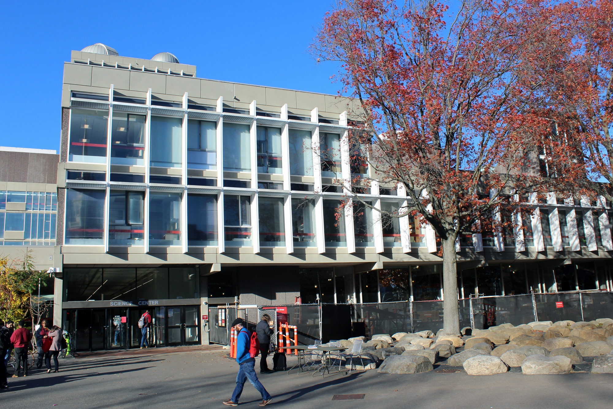 The Science Center at 1 Oxford Street is a focal point of the undergraduate STEM experience at Harvard, hosting many large introductory courses and laboratory-based classes.  Professors and researchers at the University have expressed concern that federal funding for scientific research may be curtailed by the Trump administration.