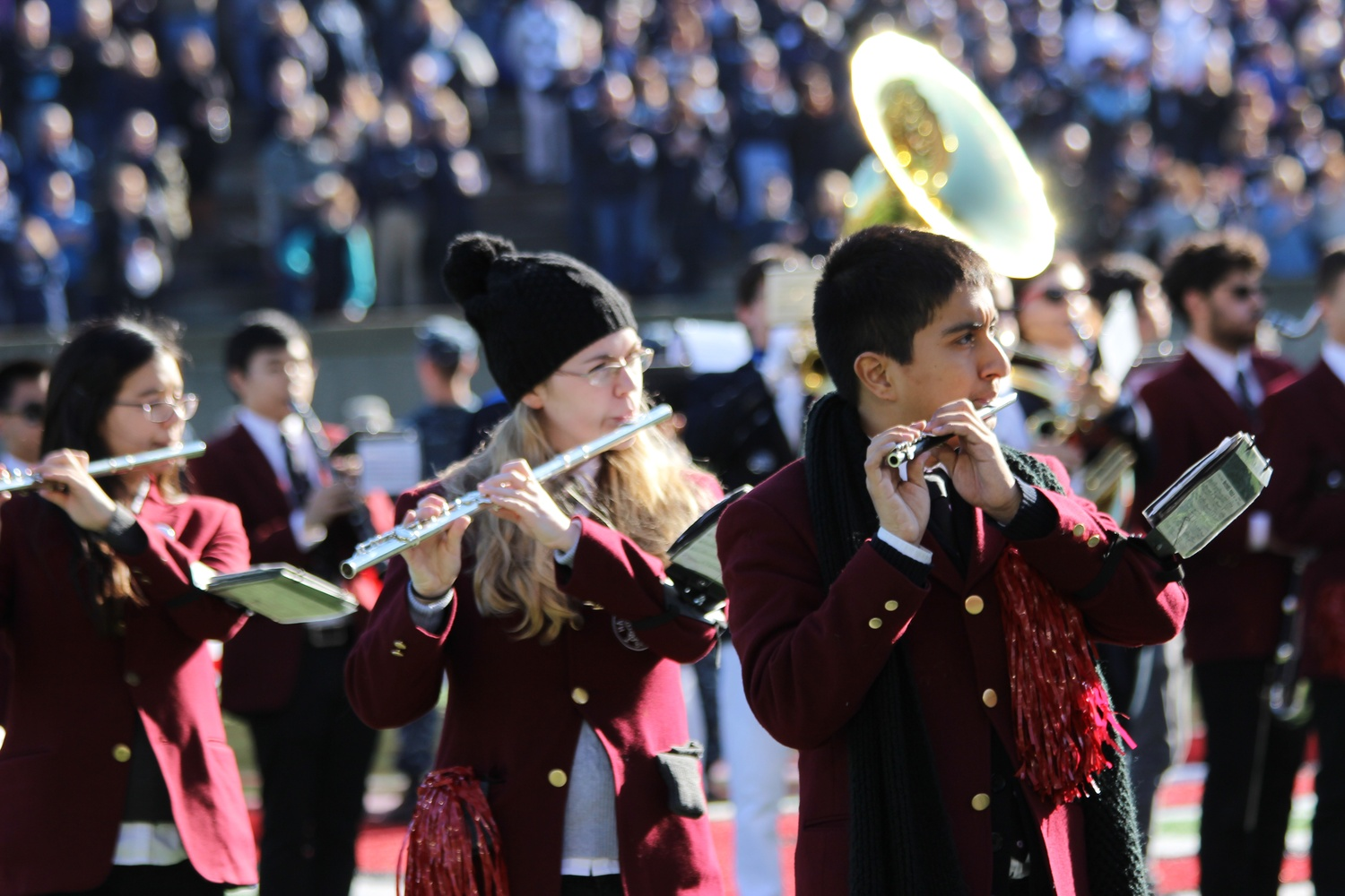 The Harvard Band performing in 2016.