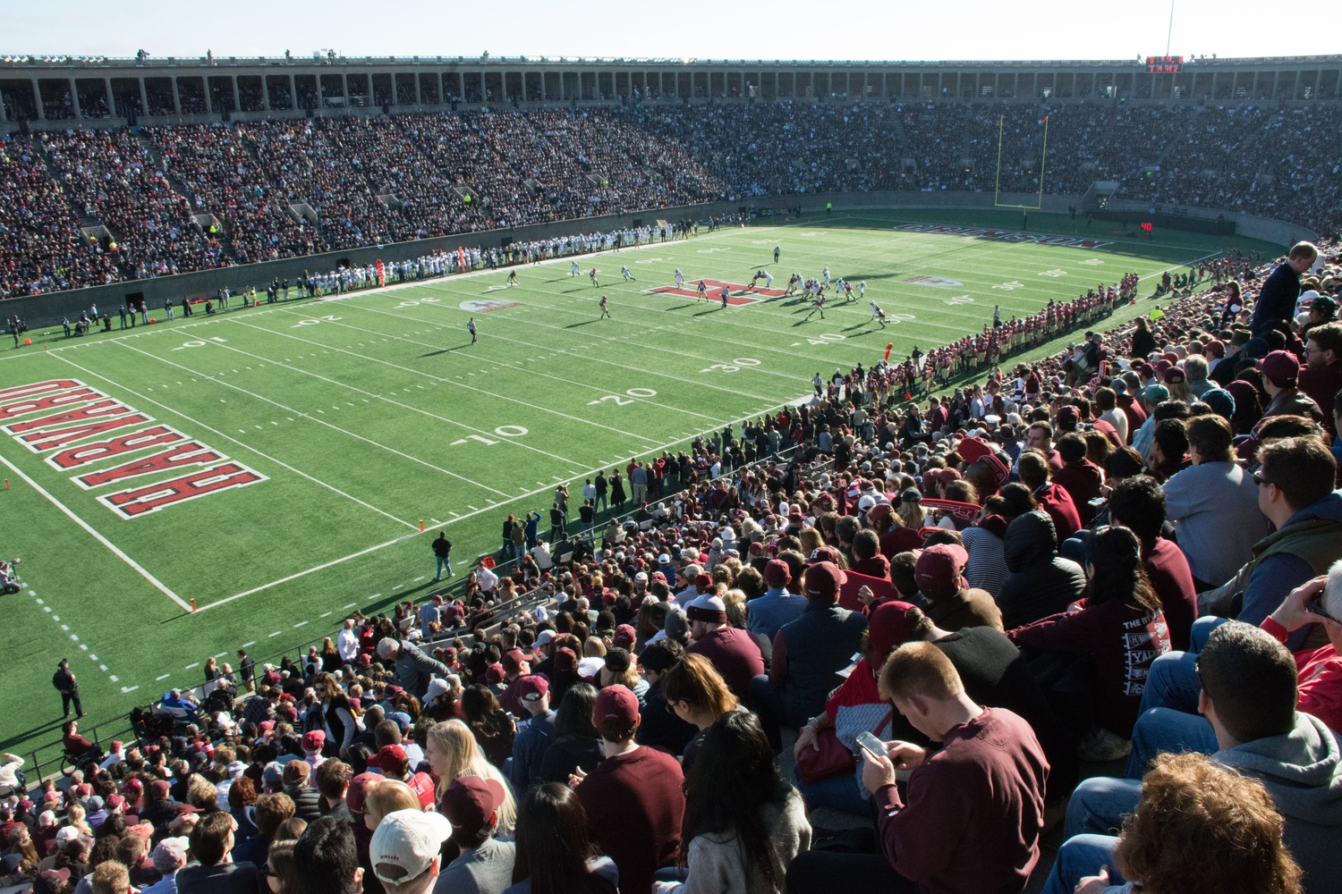 Instead of its usual venue at the Harvard Stadium pictured), the 135th Harvard-Yale football game will be played at Fenway Park next year.