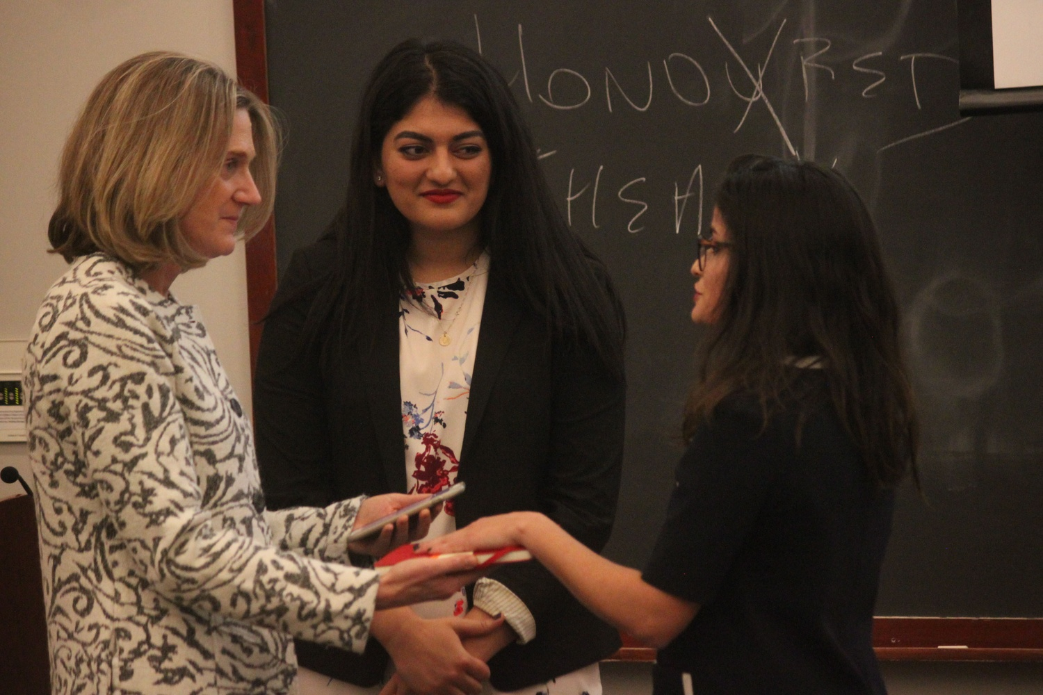 Current UC President Yasmin Z. Sachee '18 is sworn in at the start of her term in December 2016.