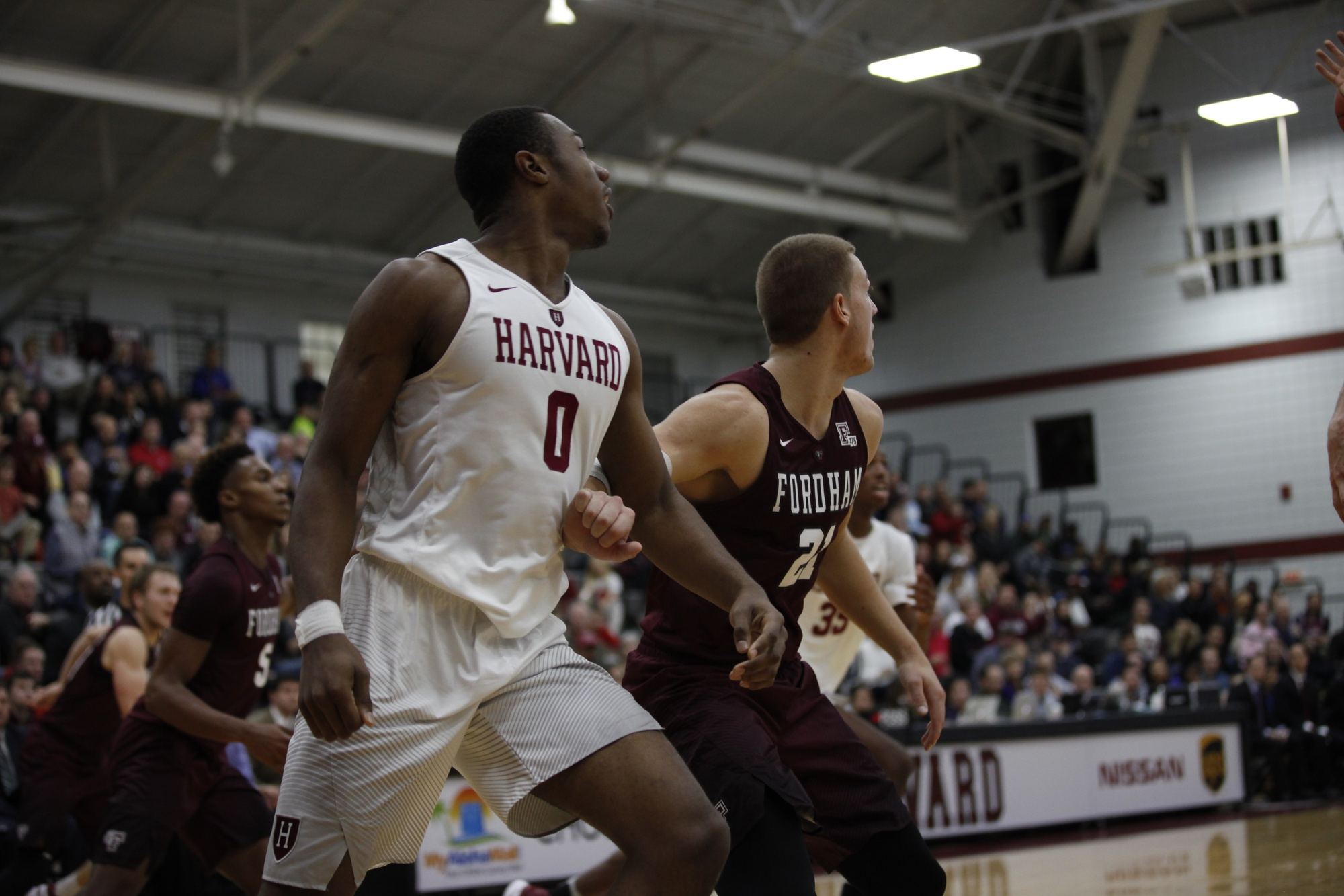 Freshman Chris Lewis, pictured here against Fordham, was selected as this week's Ivy League Rookie of the Week