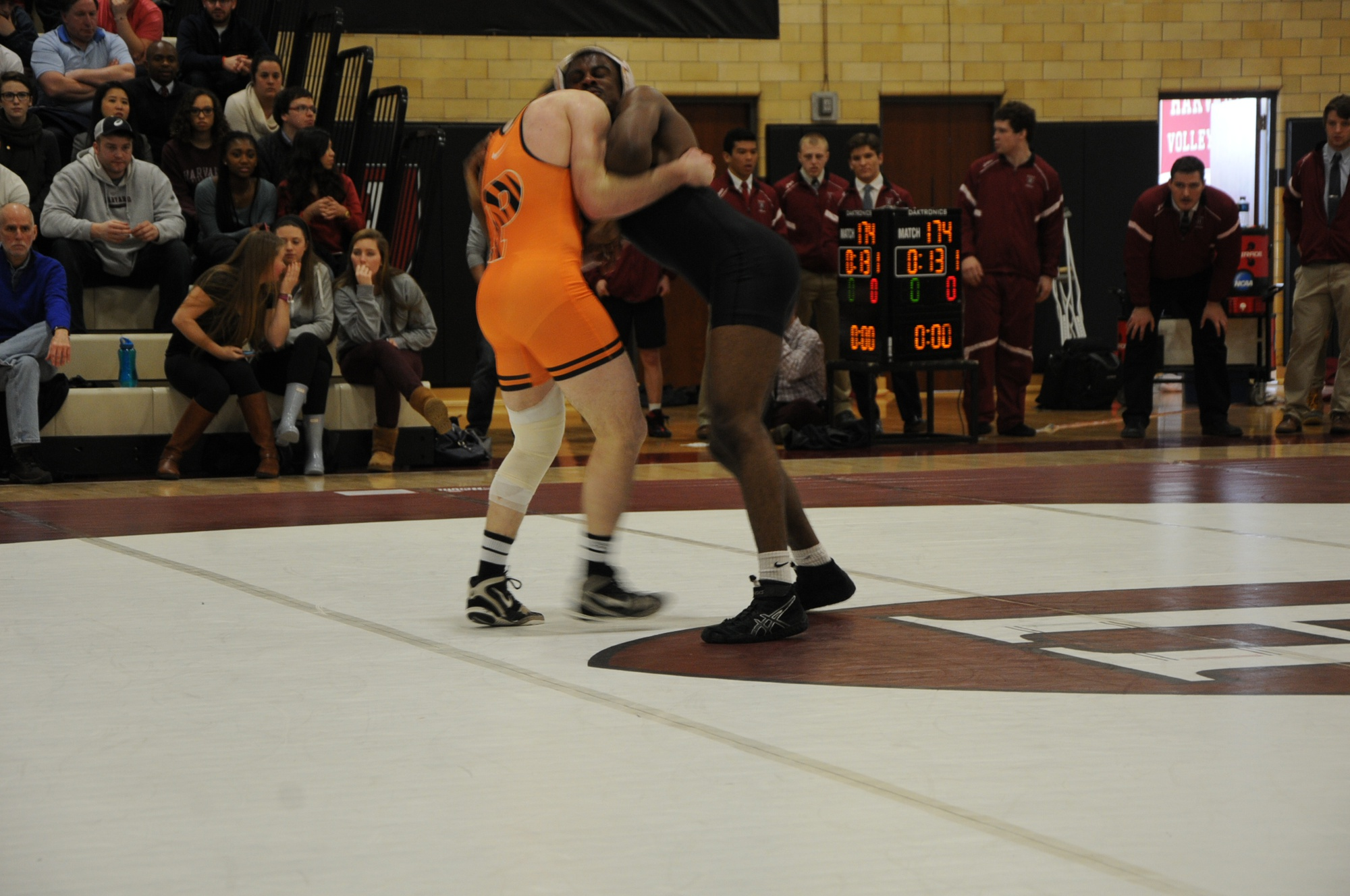 Junior and tri-captain Josef Johnson grapples with Princeton competition. On Saturday, Johnson won both of his bouts.
