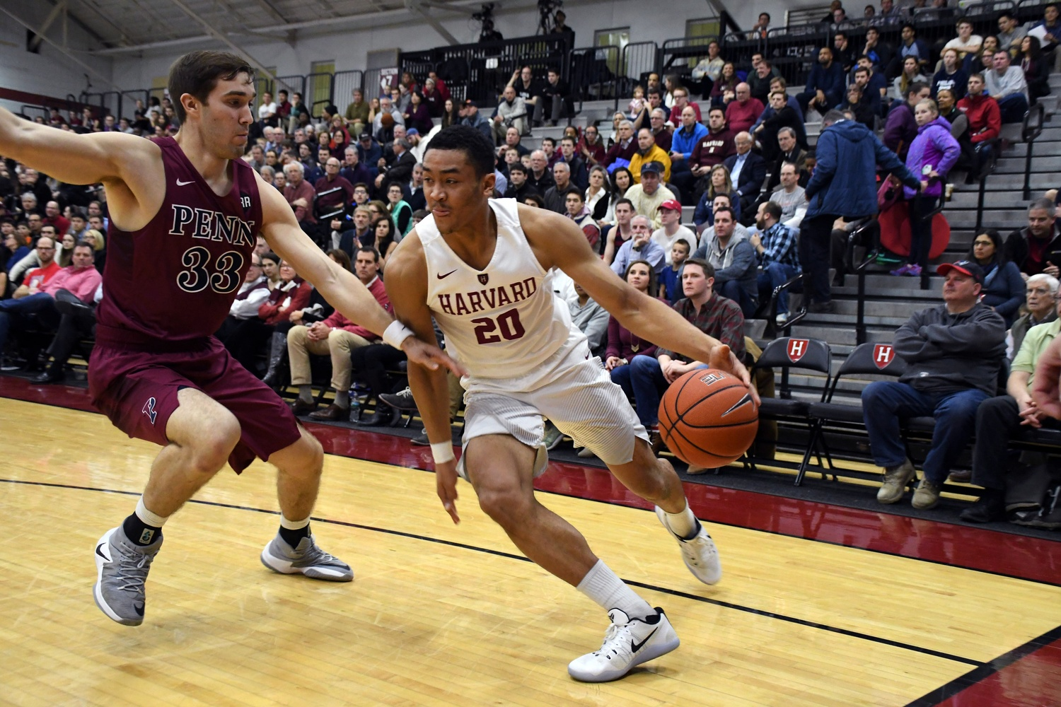 Freshman wing Justin Bassey had 10 points and six rebounds in the Crimson's 69-59 win over Penn.