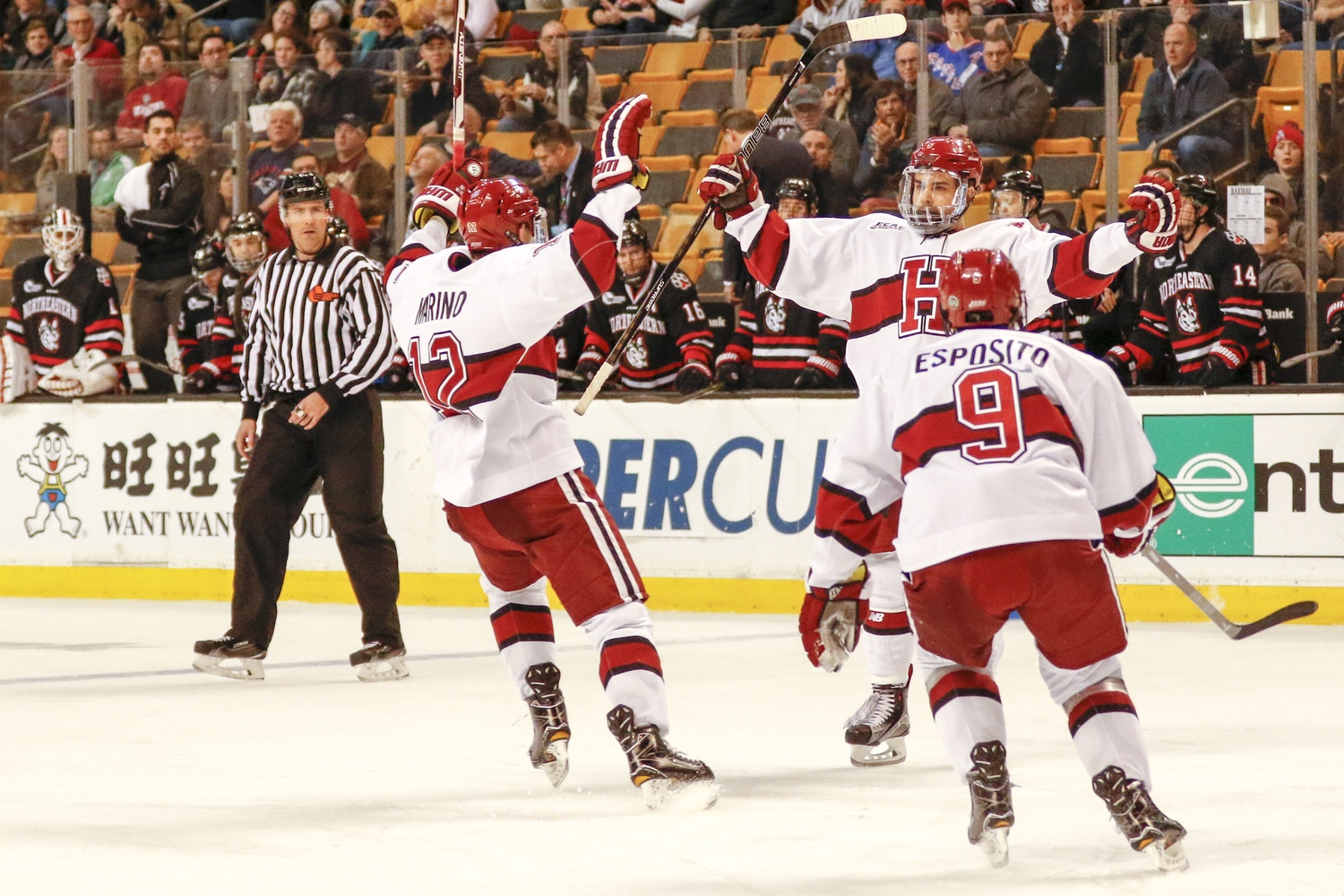 Senior Clay Anderson scored one of the biggest goals of his career in the Beanpot semis to give Harvard a 2-1 lead over Northeastern in the third period.