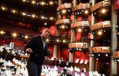 Dwayne Johnson at the 2017 Oscars Rehearsals