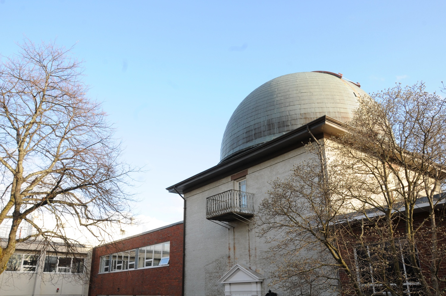 One of the telescope domes at the Harvard-Smithsonian Center for Astrophysics. Some postdoctoral fellows at the center may not receive their paychecks next month due to the partial government shutdown.