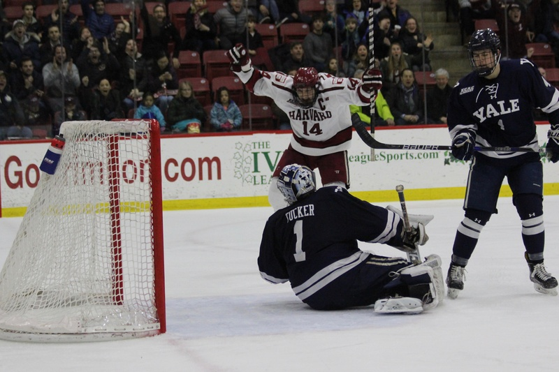 ECAC: Harvard Takes Game 1 Of Conference Quarterfinals With Wild 6-4 Victory Over Yale