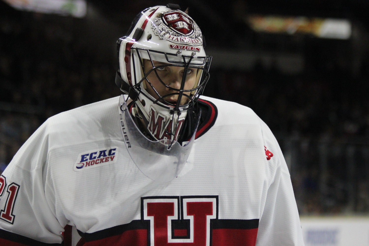 Junior goaltender Merrick Madsen had a total of 68 saves between Friday and Saturday's wins in the NCAA tournament.