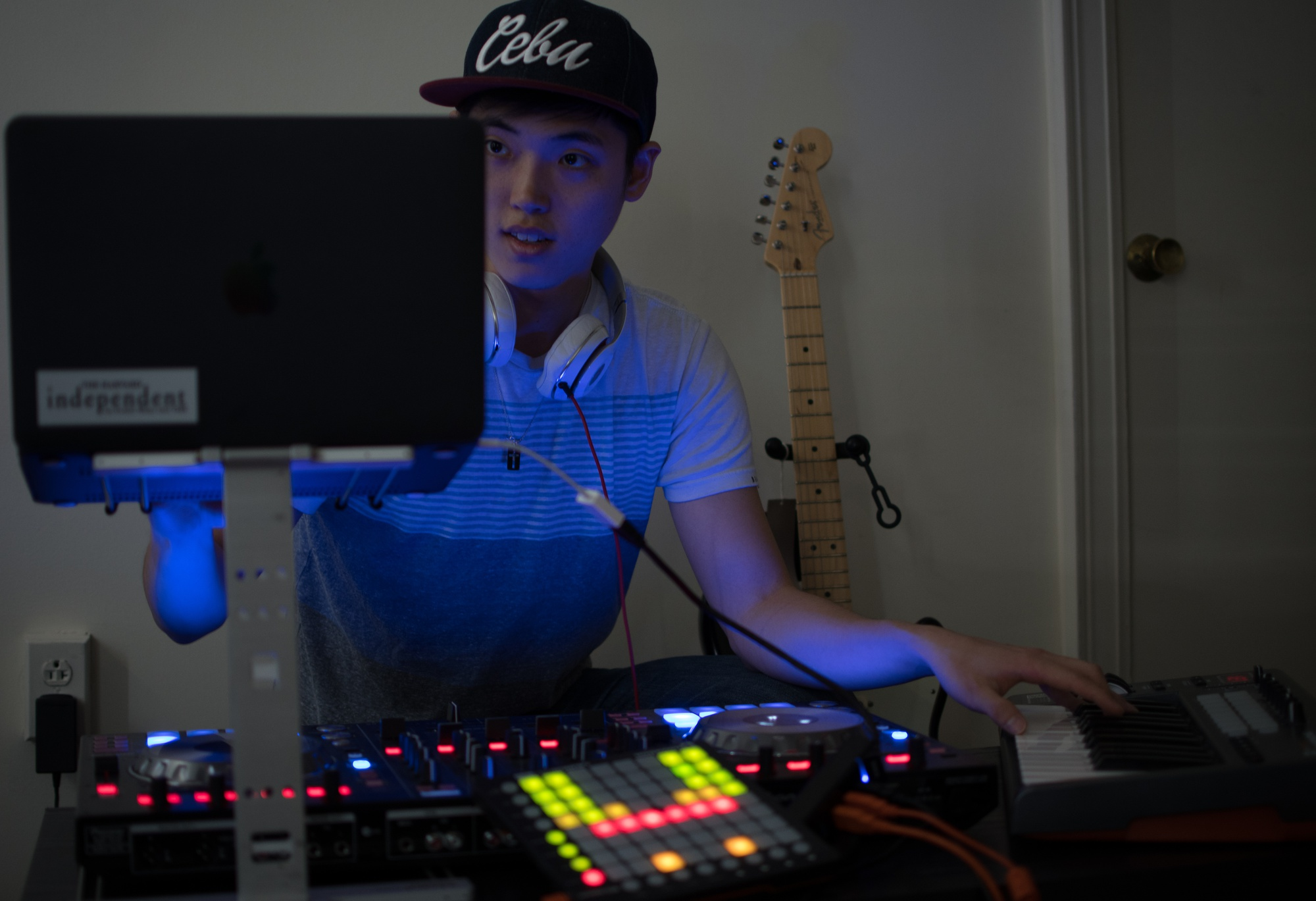 A native of the Philippines, Daniel Um '19—known as DJdUm— said he got his start DJing by creating remixes and covers of popular songs while he was in high school