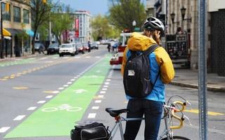 Inman Square Bicyclist