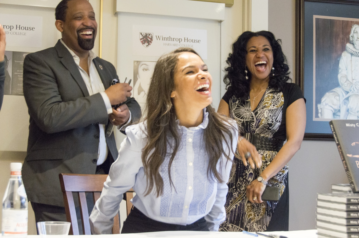 Misty Copeland stopped by Lowell Lecture Hall Monday afternoon to deliver a talk moderated by Dean Ronald S. Sullivan, Jr. and Dean Stephanie Robinson, who are the first African-American faculty deans of the College.