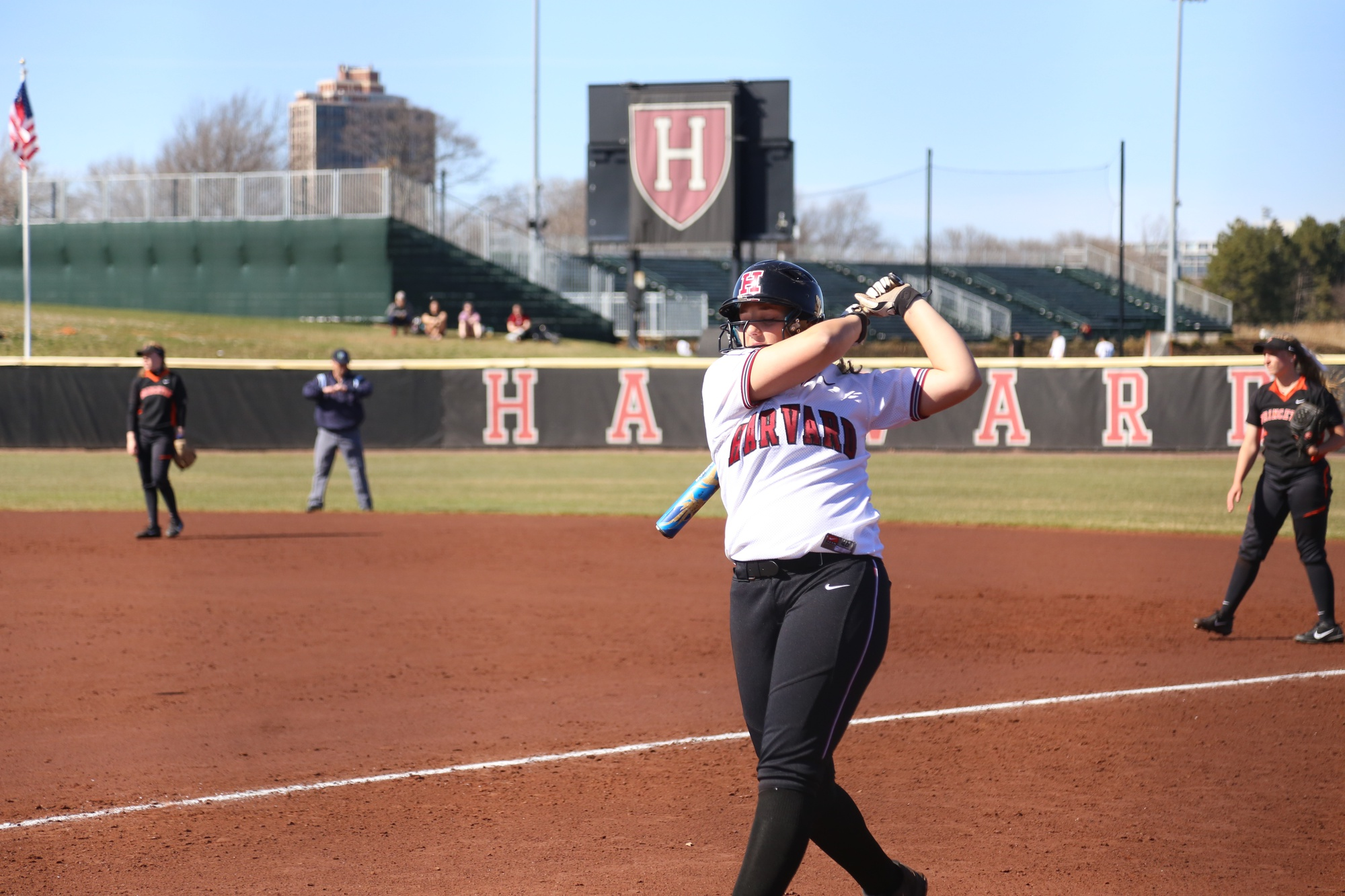 Pitcher and first baseman Olivia Giaquinto is only a freshman, but in her first year, the player has delivered great power to the Crimson from the batter's box and the pitcher's mound. Over the weekend, Giaquinto went 7-of-12 as Harvard clinched a spot in the Ivy League Championships.