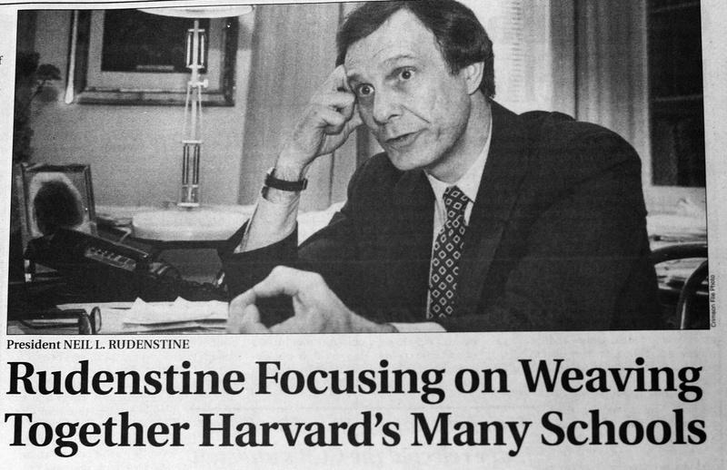 Rudenstine and 'One Harvard'