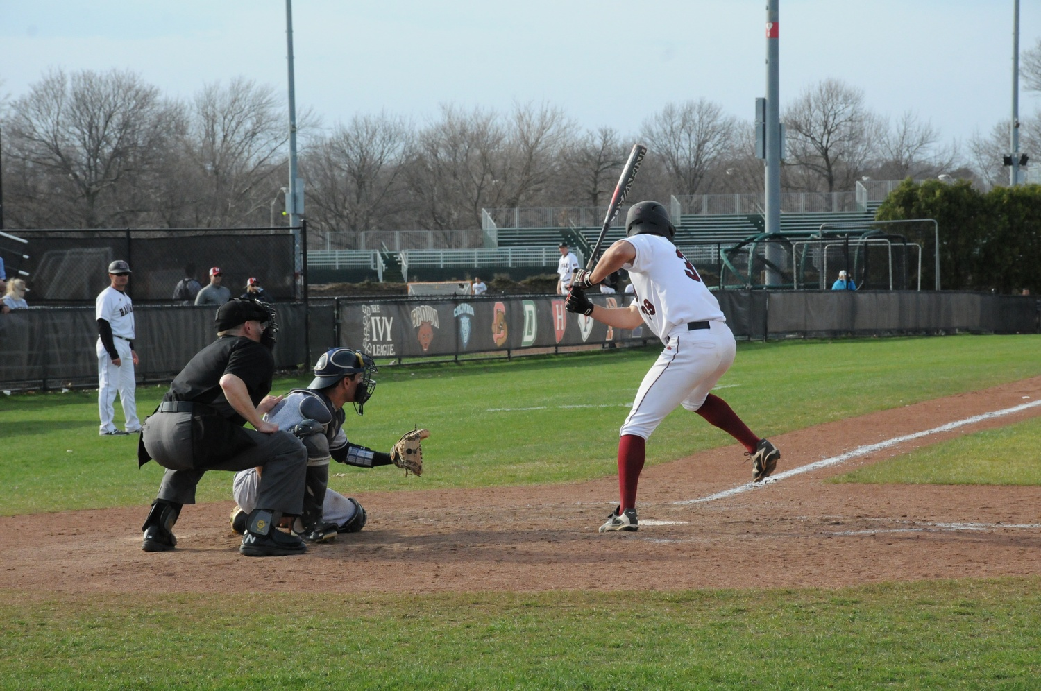Sophomore outfielder P.J. Robinson, pictured here against Yale, had a breakout 2017 campaign. He hit four home runs in as many games against the Elis.