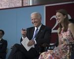 Former Vice President Joseph R. Biden with Katie F. G. Wu '17