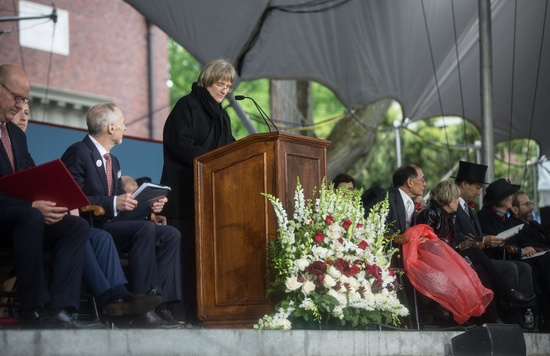 Faust Speaking at Commencement